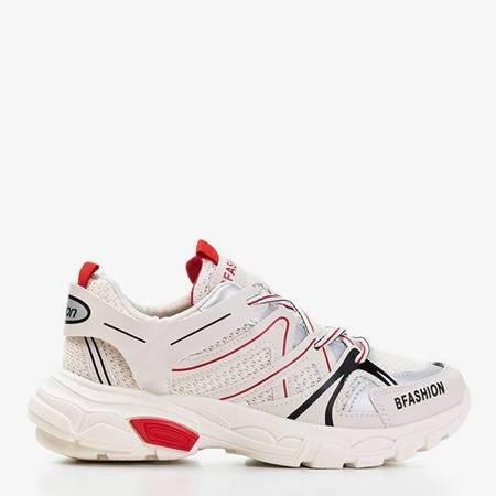 OUTLET Beżowe damskie sportowe buty Risika - Obuwie