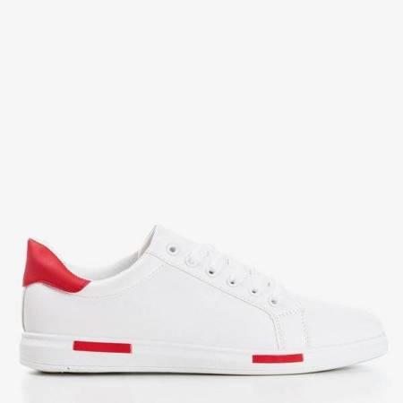 OUTLET Biało-czerwone tenisówki męskie Tanami - Obuwie