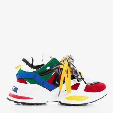 OUTLET Wielokolorowe sneakersy damskie na grubej podeszwie Eafi - Obuwie