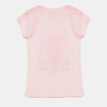 Różowa koszulka z krótkim rękawem - Odzież
