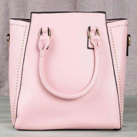Różowa torba damska z dżetami - Torebki