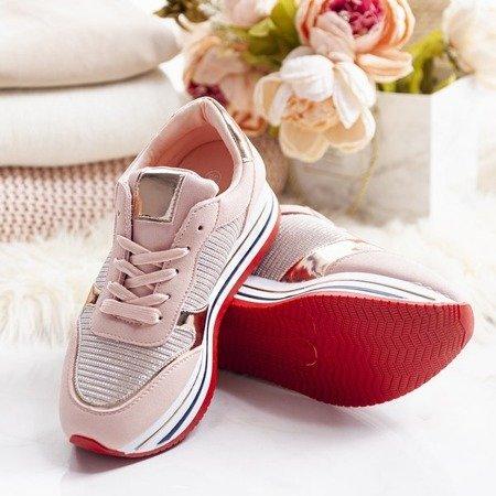 Różowe buty sportowe na platformie Lexia - Obuwie