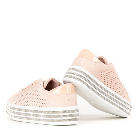 Różowe buty sportowe na platformie Vahini - Obuwie