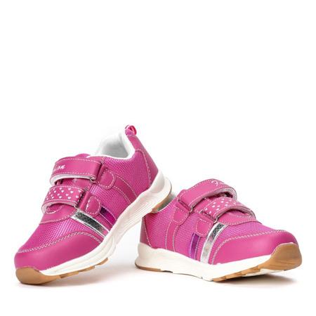 Różowe dziewczęce buty sportowe Fonnie - Obuwie