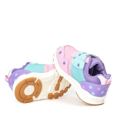 Różowe dziewczęce buty sportowe Monitta - Obuwie
