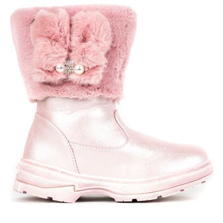 Różowe dziewczęce śniegowce Doll - Obuwie