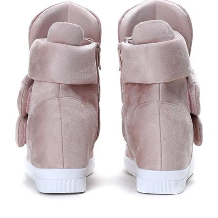 Różowe sneakersy na krytej koturnie Oh Little Girl - Obuwie