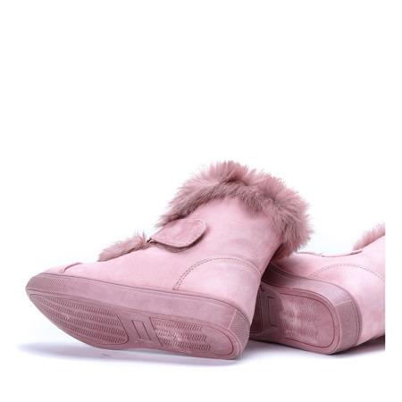 Różowe śniegowce Beatrisa - Obuwie
