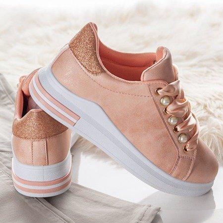 Różowe sportowe buty na platformie Limbo - Obuwie
