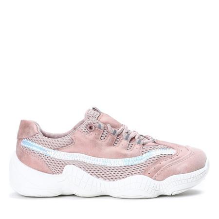 Różowe sportowe buty na wyższej podeszwie Zooey - Obuwie