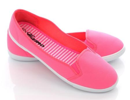 Różowe tenisówki Menia- Obuwie