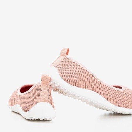 Różowe tenisówki slip-on damskie Calicija - Obuwie