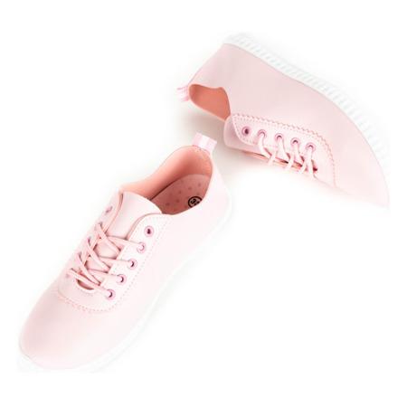Różowe tenisówki sznurowane Olimpik - Obuwie