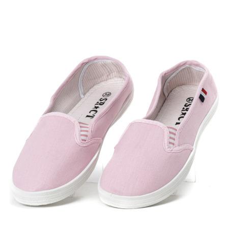 Różowe tenisówki typu slip on Irina - Obuwie