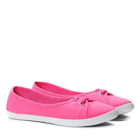 Różowe tenisówki typu slip on - Obuwie