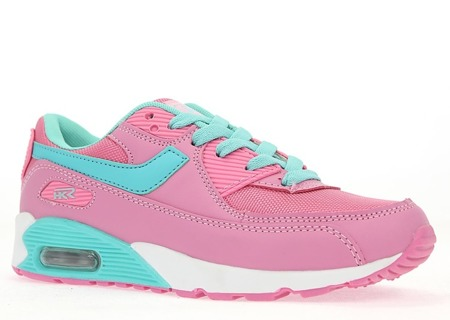 Różowo-niebieskie sportowe buty Gwendolyn - Obuwie