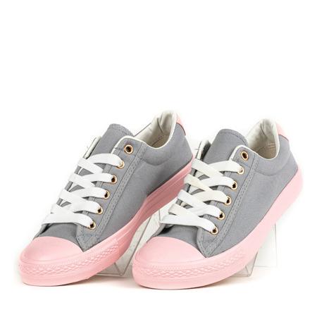 Różowo-szare trampki damskie Nieves - Obuwie