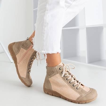 Różowo-zielone sportowe buty damskie Iria - Obuwie
