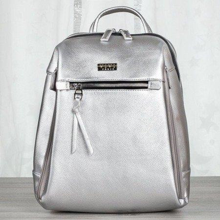 Srebrny plecak damski - Plecaki