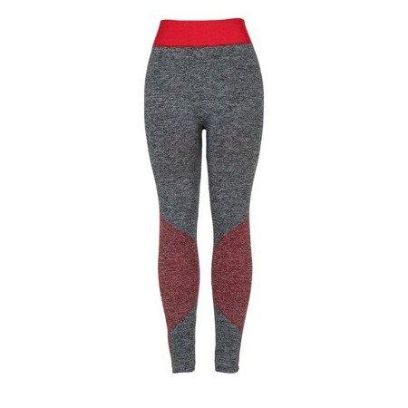 Szare getry z czerwonymi wstawkami - Spodnie