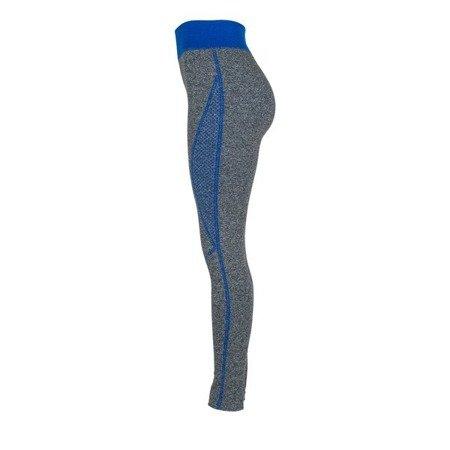 Szare getry z niebieskimi wstawkami - Spodnie