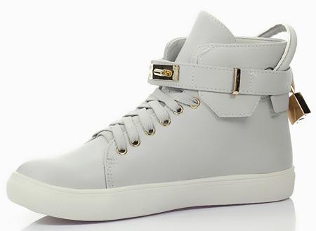 Szare sneakersy  - Obuwie