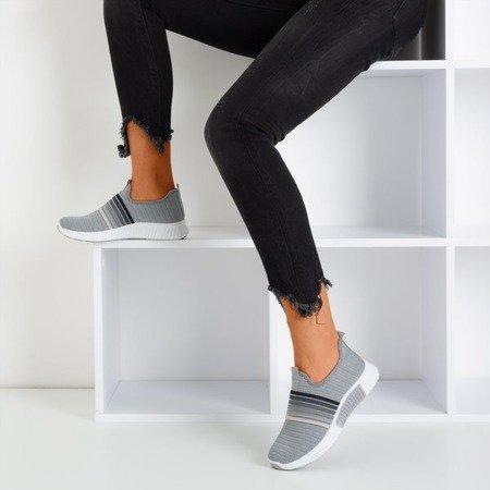 Szare sportowe buty damskie typu slip - on Sweet Rainbow - Obuwie