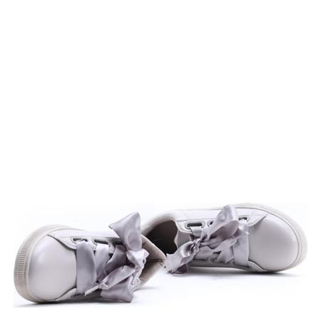 Szare, sportowe buty z kokardą Maeve - Obuwie