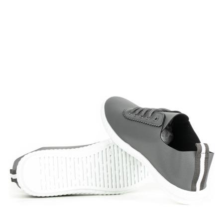 Szare tenisówki sznurowane Olimpik - Obuwie