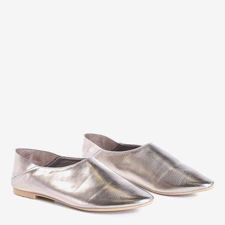 Szaro - srebrne półbuty damskie Branca - Obuwie