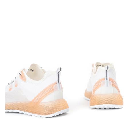 Sznurowane buty sportowe w kolorze pomarańczowym Farssa - Obuwie