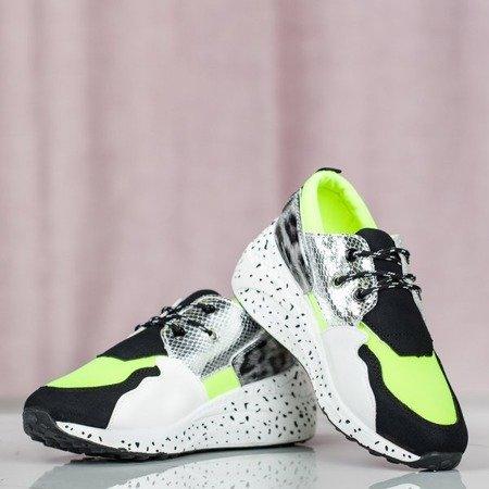 Wielokolorowe buty sportowe z panterką Dianne Obuwie