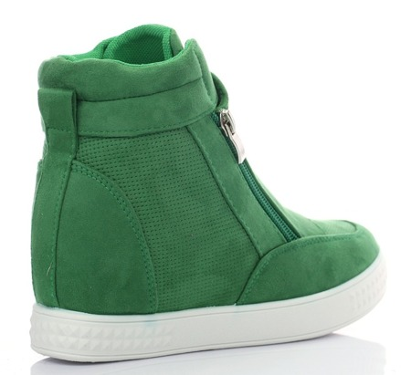 Zielone sneakersy na koturnie Velicienta - Obuwie
