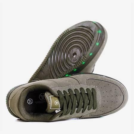 Zielone sportowe buty damskie świecące Led Dream - Obuwie