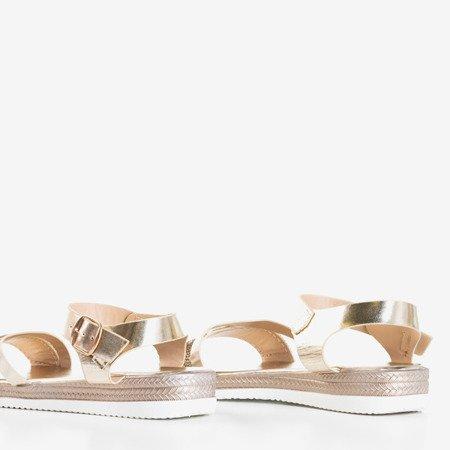 Złote damskie sandały z cyrkoniami Ido - Obuwie