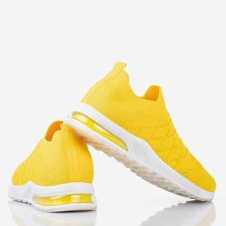 Żółte sportowe buty damskie typu slip - on Brighta - Obuwie