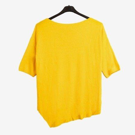 Żółty damski sweter - Odzież