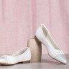 Białe skórzane baleriny Figi - Obuwie