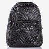 Czarny pikowany plecak - Plecaki