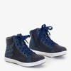 Granatowe dziecięce sportowe sneakersy Squsia - Obuwie