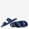 Granatowe klapki damskie z paskami Whista - Obuwie