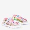 Jasnoróżowe dziecięce sandały Frida - Obuwie