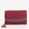 Mały bordowy portfel damski - Portfel
